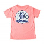 Youth Girls- Bright Coral Armor Tee