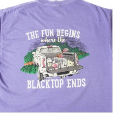 Women's- Fun Begins Where Blacktop Ends Tee